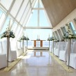 Romantic wedding place at Infinity Chapel, Conrad Hotel, Bali, Indonesia — Stock Photo #14936879