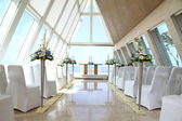 Romantic wedding place at Infinity Chapel, Conrad Hotel, Bali, Indonesia — Stock Photo