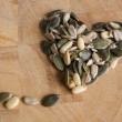 Royalty-Free Stock Photo: Seeds in heart shaped form
