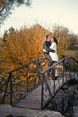 History of our love. Walk on a park, sun, happiness, love. — Stock Photo