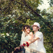 Young wedding couple - 图库照片