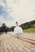 Walk of newly-weds — Stock Photo