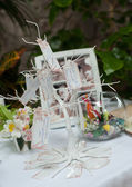 Wedding decorative tree of invited — Stock Photo