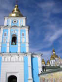 The bell tower of St. Michael's Cathedral Kiev — Stok fotoğraf