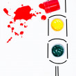 Stock Photo: Abstract traffic light