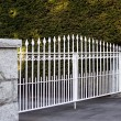 Stock Photo: Regal white metal gate
