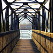 Stock Photo: Bridge overlooking burrard inlet