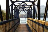 Bridge overlooking burrard inlet — Stock Photo