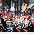 Stock Photo: Marching band at santclaus parade - vancouver