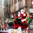 Stock Photo: Santa Claus at christmas parade downtown