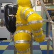 Stock Photo: Deep sediving suit on display