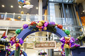 Decorated archway in shopping mall — Stock Photo