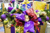 Gifts and decoration display in mall — Stock Photo