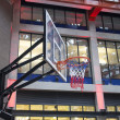 Stock Photo: Basketball net in urbshopping plaza