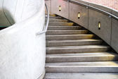Marble steps in urban shopping plaza — Stock Photo