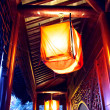 Lantern in chinatown terrace — Stock Photo