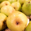 Stock Photo: Fresh pears at market