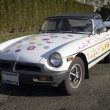 Stock Photo: Europesports car with flowery paint job