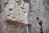Indoor rock climbing wall — Stock Photo