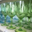 Goblets on shelf — Stock Photo
