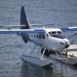 Seaplane at dock - Stock Photo