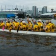 Dragon boat on false creek — Stock Photo