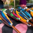 Colorful handcrafted umbrellas - Stock Photo