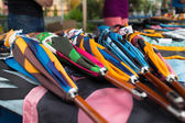 Colorful handcrafted umbrellas — Stock Photo