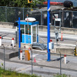 Tollbooth at oceanside roadway — Stock Photo