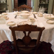 Old time dining room - Stock Photo