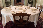 Old time dining room — Stock Photo