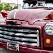 Front closeup of classic red pickup truck — Stock Photo