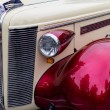 Stock Photo: Classic car bumper at street fest