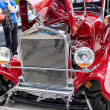 Stock Photo: Red classic car at outdoor fest