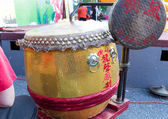 Drum at chinese outdoor fest — Stock Photo
