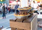 Pies at chinatown market — Stock Photo