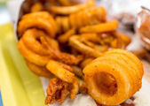 Curly fries — Stock Photo