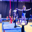 Kids in gymnastic show — Stock Photo