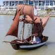 Cute little pirate ship — Stock Photo