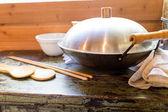 Vieux wok chinois — Photo
