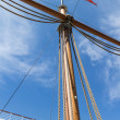 Main mast in full sun — Stock Photo