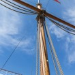 Stock Photo: Main mast in full sun