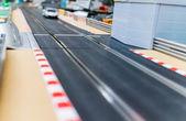 игрушка автомобилей ипподроме — Стоковое фото