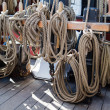 Stock Photo: Ropes and rigging on old vessel