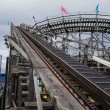Wooden rollercoaster-tall — Stock Photo
