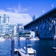 Stock Photo: Blue sky day on granville island