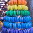 Tower of colorful cookies — Stock Photo