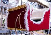 Santa sleigh in mall — Stock Photo