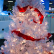 Stock Photo: Pink ribboned christmas tree