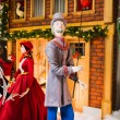 Stock Photo: Tall min christmas street scene